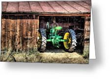 Deere In The Barn Greeting Card