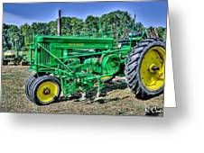 Deere Old Tractor Greeting Card
