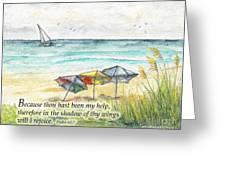 Deerfield Beach Umbrellas Psalm 63 Greeting Card