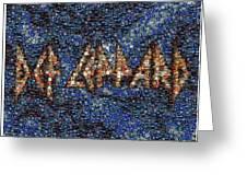 Def Leppard Albums Mosaic Greeting Card by Paul Van Scott