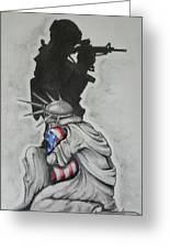 Defending Liberty Greeting Card