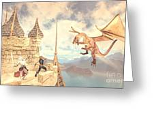 Defending The Castle Greeting Card
