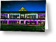 Defiance College Library Night View Greeting Card