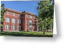 Defiance College Tenzer Hall Greeting Card