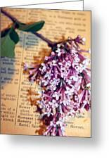Defining Lilacs Greeting Card