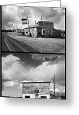 Defunct Country Taverns On North Dakota Prairie Composite Vertic Greeting Card