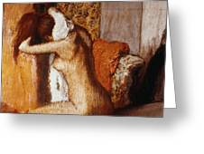 Degas: After The Bath Greeting Card