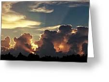 Degas Clouds #2 On Florida Sky Greeting Card
