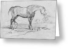 Degas, Horse.  Greeting Card