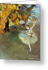 Degas: Star, 1876-77 Greeting Card