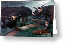 Degouve: Angels, 1894 Greeting Card