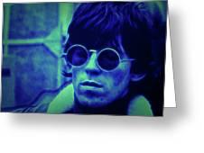 Deja Blue Rolling Stones Bill Wyman Greeting Card