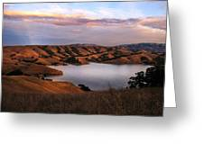 Del Valle At Sunset Greeting Card