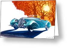 Delahaye 135 M Roadster Greeting Card