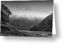 Delaware Water Gap Clouds Set In Greeting Card