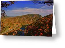 Delaware Water Gap In The Fall Greeting Card