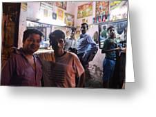 Delhi Barbershop Greeting Card