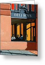 Deli Boys - Cafe Greeting Card