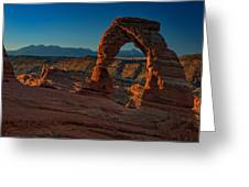 Delicate Arch At Sunrise Greeting Card