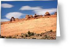 Delicate Arch Famous Landmark In Arches National Park Utah Greeting Card