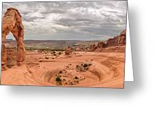 Delicate Arch Panoramic Greeting Card
