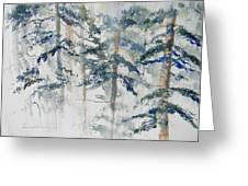 Delicate Pines Greeting Card