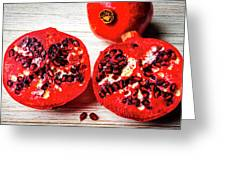 Delicious Pomegranate Greeting Card
