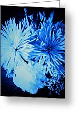 Delightfully Blue Greeting Card