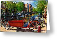 Delivery Bike Greeting Card