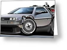 Delorean Back To The Future Greeting Card