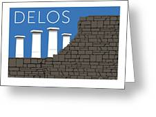 Delos - Blue Greeting Card by Sam Brennan