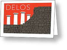 Delos - Orange Greeting Card by Sam Brennan