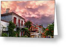 Delphi Greece Sunset Greeting Card