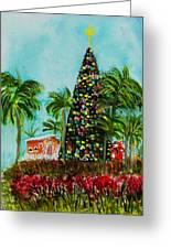 Delray Beach Christmas Tree Greeting Card