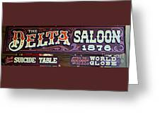 Delta Saloon 1876 Greeting Card