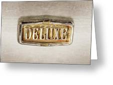 Deluxe Chrome Emblem Greeting Card