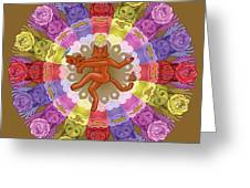 Deluxe Tribute To Tuko - Bronze Background Greeting Card