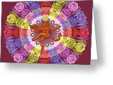 Deluxe Tribute To Tuko - Maroon Background Greeting Card