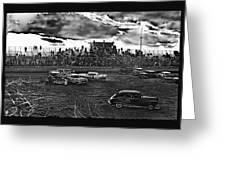 Demolition Derby Rain Storm Clouds #1 Tucson Arizona 1968 Greeting Card