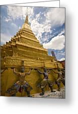 Demon Guards Grand Palace Bangkok Greeting Card