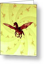 Demon Winged Horse Greeting Card