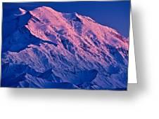 Denali Alpenglow Greeting Card