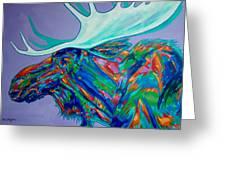 Denali Moose Head Greeting Card