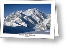 Denali West Buttress Greeting Card