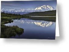Denali Wonder Lake Greeting Card