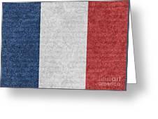 Denim France Flag Illustration Greeting Card