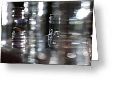 Denmark Abstract Of Glass Chess Set Greeting Card