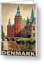 Denmark, Castle, Romance Of The Middle Ages Poster Greeting Card