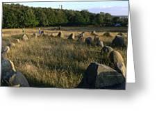Denmark, Lindholm Hoeje Viking Burial Greeting Card