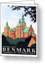Denmark, Rosenborg Castle, Vintage Travel Poster Greeting Card